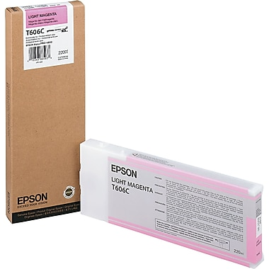 Epson T606 200ml Vivid Light Magenta UltraChrome Ink Cartridge (T606C00), High Yield
