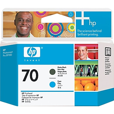 HP 70 Matte Black/Cyan Printhead (C9404A)