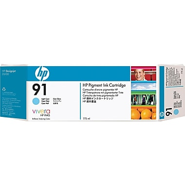 HP 91 Light Cyan Ink Cartridge (C9470A), 775ml