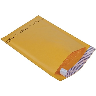 Staples® Kraft Bubble Mailer Envelope #1, 7-1/4