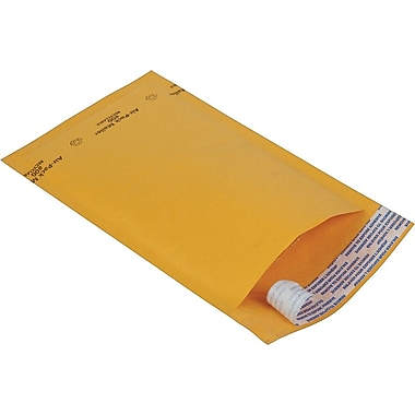 Staples® Kraft Bubble Mailer Envelope #0, 6