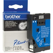 Brother Label Tape, 12mm Black on White, TC201