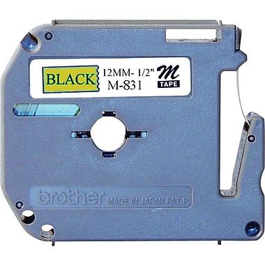 Brother - Ruban pour étiqueteuse M831, 12 mm, noir sur or