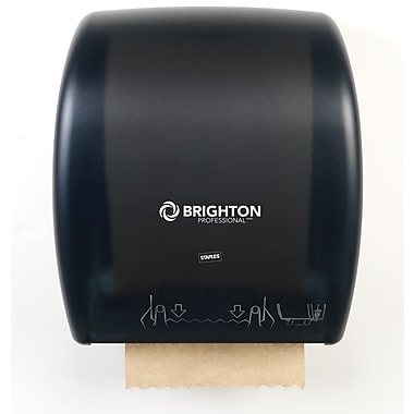 Brighton Professional Mechanical Auto-Cut Paper Towel Dispenser, Black
