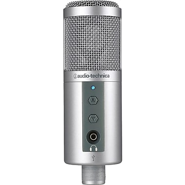 Audio-Technica ATR2500-USB Wired Cardioid Condenser USB Microphone, Gray