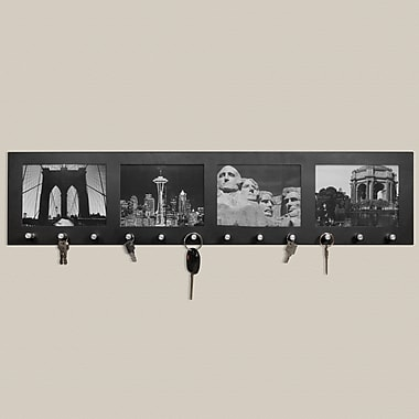 Barska 4 - 4in. x 6in. Sectional Picture Frame with 12 Hanging Key Storage