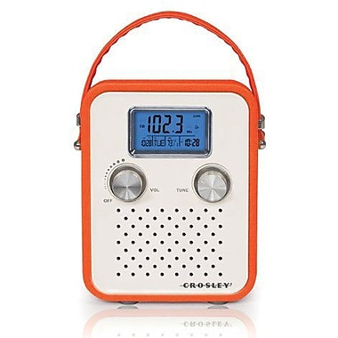 Crosley Radio Songbird Portable Radio, Orange