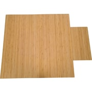 "True Seating Bamboo Chairmat, 36"" x 48"", Natural"