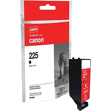 Staples Remanufactured Black Ink Cartridge Compatible with Canon PGI-225BK