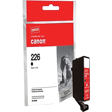 Staples Remanufactured Black Ink Cartridge Compatible with Canon CLI-226