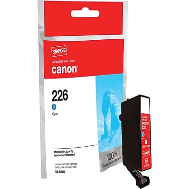 Staples Remanufactured Cyan Ink Cartridge, Canon CLI-226C (SIC-RCLI226C)