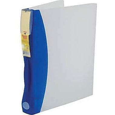 Storex - Classeur DuraTech en plastique givré, 2 po, bleuet