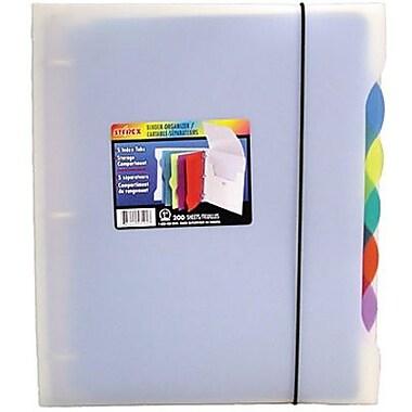 Storex - Reliure d'organisation en poly avec 5 onglets, 1 po, 5 onglets de couleur