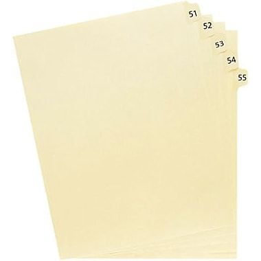 Oxford® Legal Trade Exhibit Dividers, 51-75, 25 Tab Set