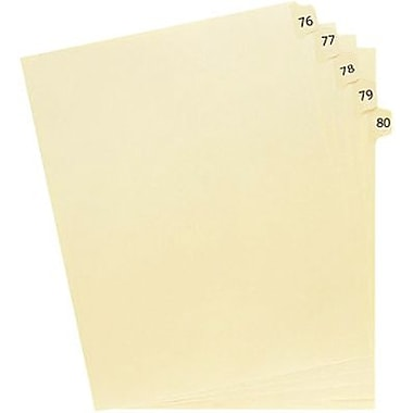 Oxford® Legal Trade Exhibit Dividers, 1-75, 75 Tab Set