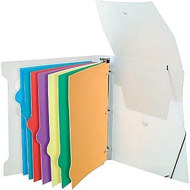 Storex Poly Organizer Binder with 8 Index Tabs, 1½