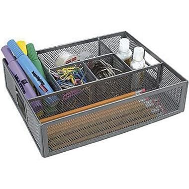staples 174 metal mesh drawer organizer silver staples 174