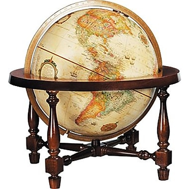 Replogle - Mappemonde style colonial antique de 12 po