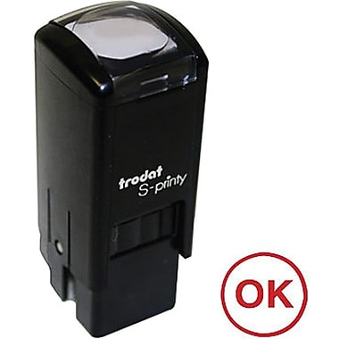 Trodat® S-Printy 4921 Self-Inking Mini Stamp, OK Impression, Red Ink