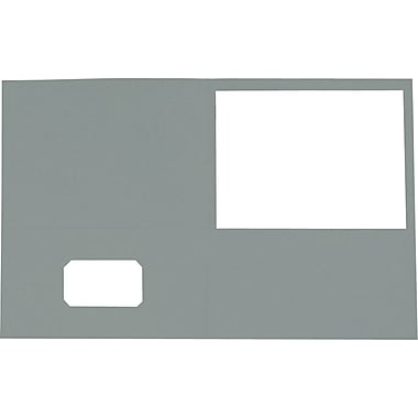 Staples® Twin-Pocket Portfolio, Grey, 10/Pack