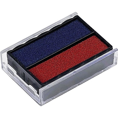 Trodat® 4850 Replacement Ink Pad, Blue/Red