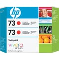 HP 73 Chromatic Red Ink Cartridge (CD952A), 2/Pack