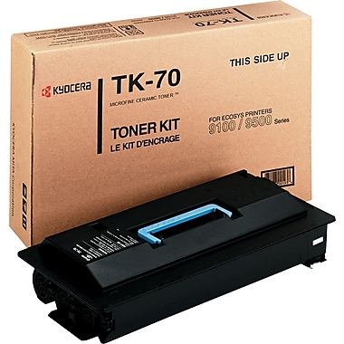 Kyocera Mita Black Toner Cartridge (TK-70), High Yield