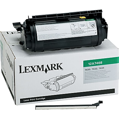 Lexmark T630/T632 Black Toner Cartridge for Label Applications (12A7468), High Yield Return Program