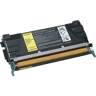 Lexmark C522/524 Yellow Toner Cartridge (C5222YS), Standard