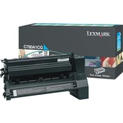 Lexmark Cyan Toner Cartridge (C780A1CG), Return Program