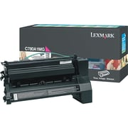 Lexmark Magenta Toner Cartridge (C780A1MG), Return Program