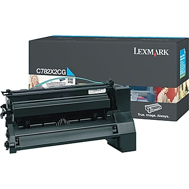 Lexmark C782 Cyan Toner Cartridge (C782X2CG), Extra High Yield