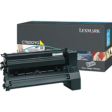 Lexmark C782 Yellow Toner Cartridge (C782X2YG), Extra High Yield
