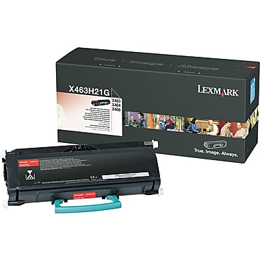 Lexmark X463/X466 Black Toner Cartridge (X463H21G), High Yield