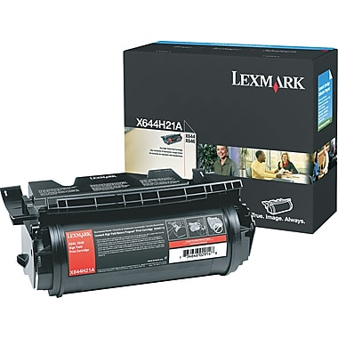 Lexmark X642/644 Black Toner Cartridge (X644H21A), High Yield