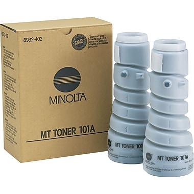 Konica Minolta 101A Black Toner Cartridge (8932-402), 2/pk