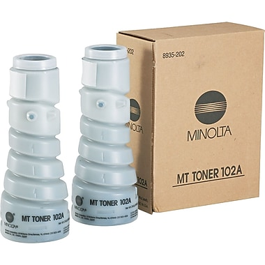 Konica Minolta 102A Black Toner Cartridge (8935-202), 2/pk