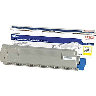 Okidata Yellow Toner Cartridge (44059213), High Yield