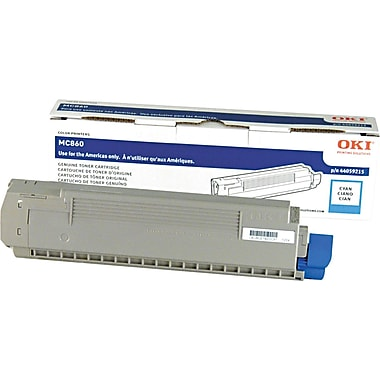 Okidata Cyan Toner Cartridge (44059215), High Yield