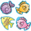 D.J. Inkers Fish Shape Stickers