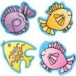 D.J. Inkers Fish Shape Stickers