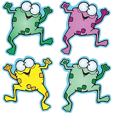 D.J. Inkers Colorful Froggies Shape Stickers