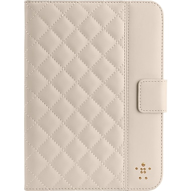 Belkin Quilted Cover with Stand for iPad Mini, Cream