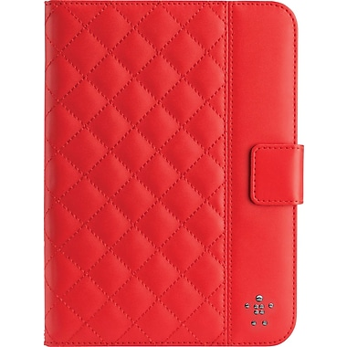 Belkin Quilted Covers with Stand for iPad Mini, Ruby