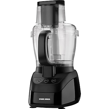 Black & Decker PowerPro Wide-Mouth 10-Cup Food Processor, Black