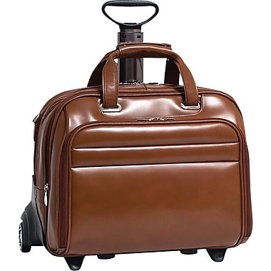 McKlein Midway Removable Wheeled 17in. Laptop Case, Brown