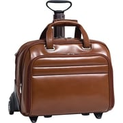 "McKlein Midway Removable Wheeled 17"" Laptop Case, Brown"