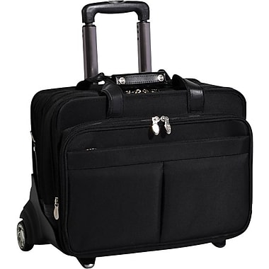 McKlein Roosevelt Removable-Wheeled 17in. Laptop Case with Removable Laptop Sleeve, Black