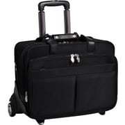 McKlein Roosevelt Removable-Wheeled 17 Laptop Case with Removable Laptop Sleeve, Black
