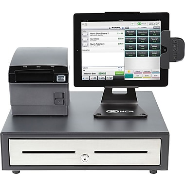 ncr silver pos cash register system for ipad staples